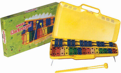ANGEL Chromatic Glockenspiel *NEW* 25 coloured metal bars, case, with beaters