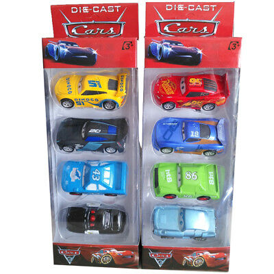 8PCs Disney Pixar Cars Lighting McQueen Diecast Cars Kid Toy Set Playset Gift