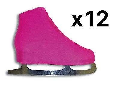 A&R Figure Skate Cover Lycra Stretch Ice Skate Boot Cover Neon Pink 9 (12-Pack)