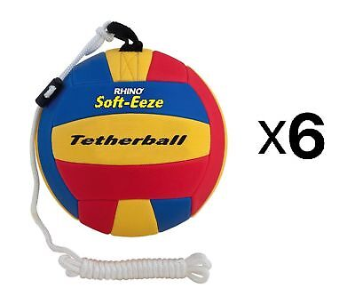 """Champion Sports 9"""" Rhino Skin Indoor Outdoor Soft-Eeze Safe Tetherball (6-Pack)"""
