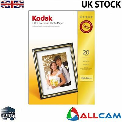 Kodak Photo Paper A4 280gsm Glossy Photo Paper 280gsm (20 sheets) Genuine Kodak
