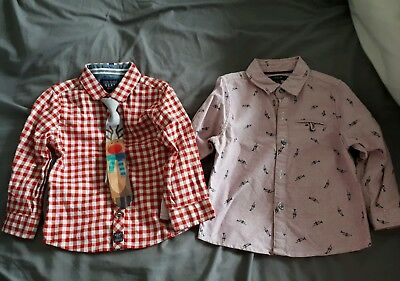 Boys Winter Christmas Shirts 18-24 Months Autograph & Next immaculate condition