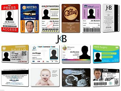 Custom Made ID Cards - Staff Membership Business Company Printed on Plastic PVC