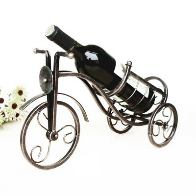 1Pcs Retro Metal Wine Shelf Tricycle Shape Red Wine Rack Holder Hot