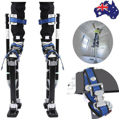 "18-30""/24-40"" Plastering Stilts Aluminum Drywall Tools Painter Builders"