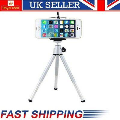 Adjustable Extendable Mobile Tripod + Phone Holder For iPhone Samsung Sony HTC