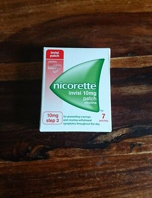 NICORETTE INVISI 10mg Step 3----7 Patches Exp 2018/2019