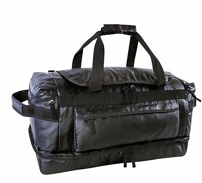 Sports Gym Weekender Bag with Drop Bottom Compartment Large Black
