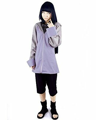 Miccostumes Women's Naruto Hyuga Hinata Cosplay Costume Small Purple and Black