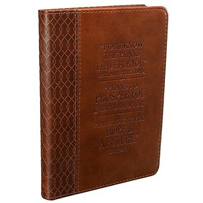 Bible Journal Notebook Leather Diary Notepad Prayer Scripture Daily Devotion Jer