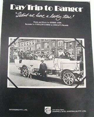 """""""Day trip to Bangor"""" Sheet music for Piano, with words"""