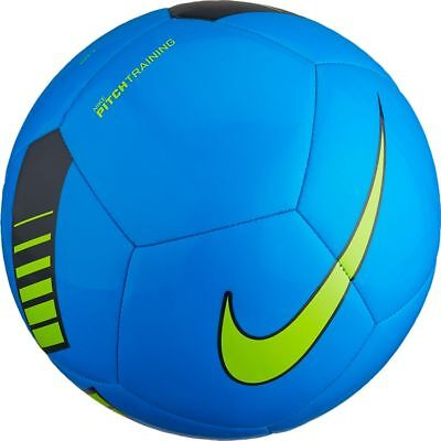 FOOTBALL/ SOCCER BALL NEW FOR 2018 NIKE PITCH 2nd TIER BALL SIZE 4 BLUE/VOLT
