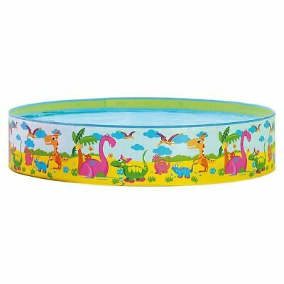 71'' x 15'' Dinosaur World Rigid Pool Family Swimming Paddling Pool