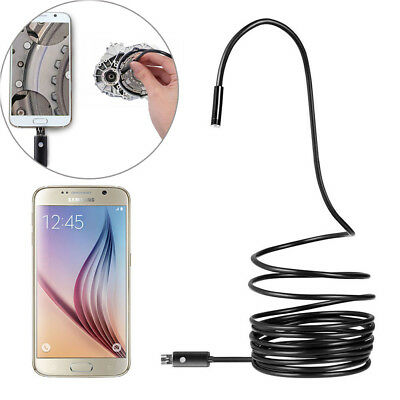 8mm Waterproof Endoscope Inspection 6LED Snake Camera for Android Phone Tablet