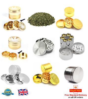 40MM Herb Grinder Crusher Metal Pollinator Magnetic 3 Part 4 Part Mill Mesh Cut
