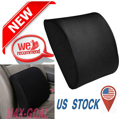 Memory Foam Seat Cushion Lumbar Back Support Pillow for Office Home Chair Car ++