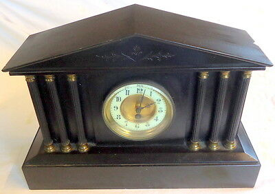 """PALLADIAN FORM"" Mantel Chiming Slate Clock for Restoration or Spares, c1890"