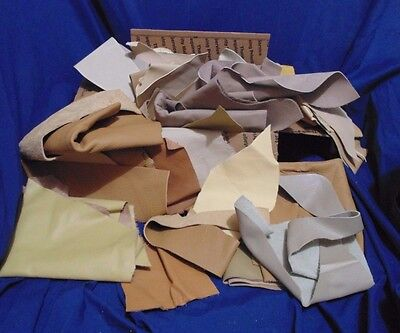 Leather Pieces - Scraps - Crafts Or Model Horse Tack - Lt Brown, Taupe, Others