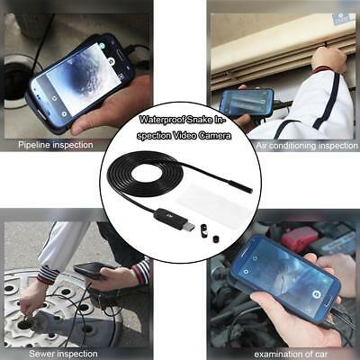 6 LED 2M Android Endoscope Borescope Waterproof Inspection Video Camera USB2.0#
