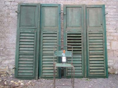 Vintage Wooden Shutters Window Two Sets Doors French  Reclaimed