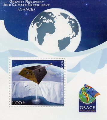 Ivory Coast 2017 MNH GRACE Gravity Recovery & Climate Experiment 1v S/S Stamps