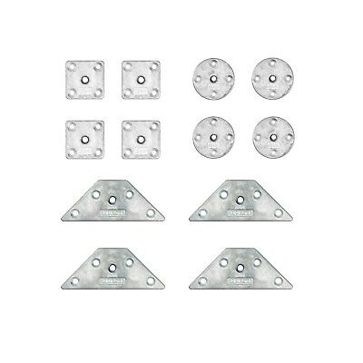 M8 8mm Heavy Duty Table Leg Feet Mounting Plates Brackets Round Square Triangle