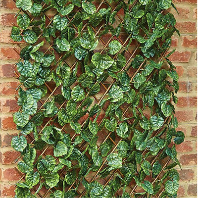 Artificial Garden Lime Leaf Trellis Fence Panel Outdoor Privacy Screening