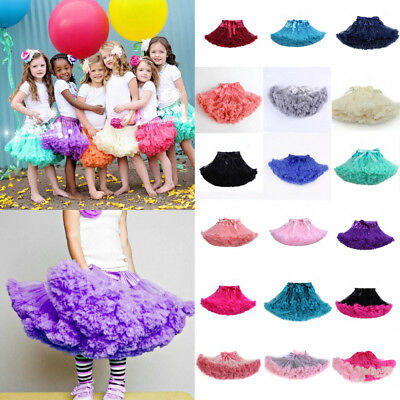Girls Multi-color Fluffy Pettiskirt Skirt Petti Party Dance Tutu Dress 0-10Year