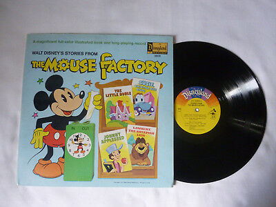 Walt Disney's Stories From The Mouse Factory ~ 1972 Us Vinyl Lp ~ Plays Great