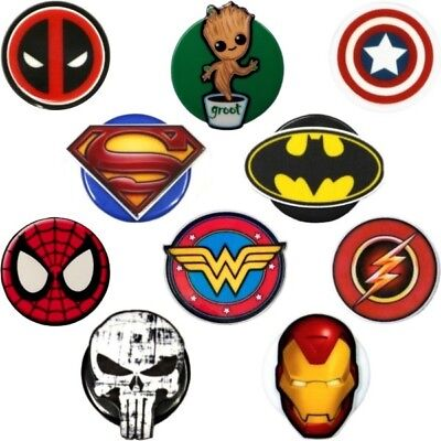 Superhero Inspired Symbols Decorative ID Badge Holders by Real Charming