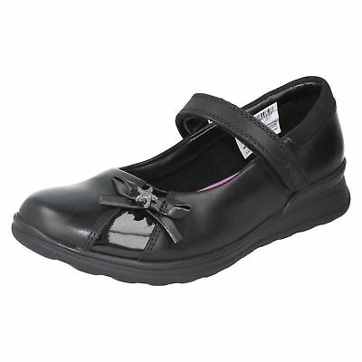 50cb4d7ff68c Clarks  Mariel Wish  Girls Black Extra Wide H Fit   Wide Instep School Shoes