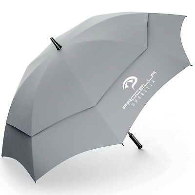 Golf Umbrella 62 Inch Windproof Automatic Vented Light Stormproof Family Unisex