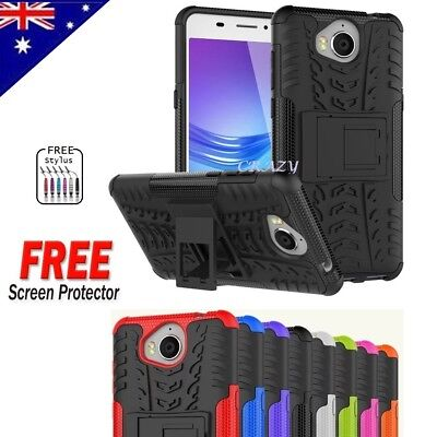 For Huawei Y5 2017 Heavy Duty Tough Kickstand Strong Case Cover