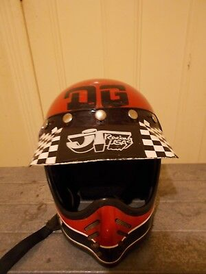 BELL MOTO STAR 3, rare vintage mx helmet with full custom/period decals