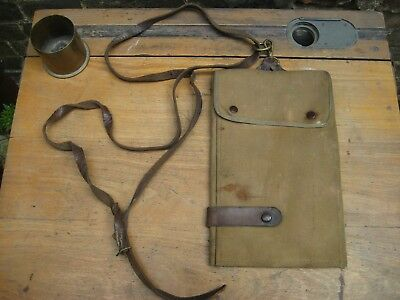 Sam Browne map case and sling with S.O. pencil