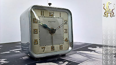 ANTIQUE DUVERDREY & BLOQUEL BAYARD DESK / ALARM CLOCK - Gorgeous ART DECO style!