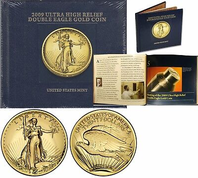 2009 Ultra High Relief Double Eagle Gold Coin Book Sealed
