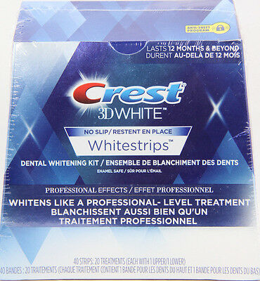 Crest 3D White Whitestrips Professional Effects 40 Strips (20 Treatments)