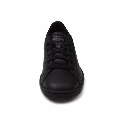 Lonsdale Mens Leyton Leather Trainers Full Lace Up Sport Casual Shoes Size8.5