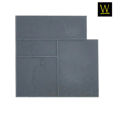 Ashler Notched Slate | Floppy (Single Flex Concrete Stamp)
