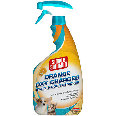 Simple Solution Orange Oxy Charged Stain & Odor Remover 32Oz Orange Oxy Charged