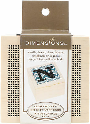 "Dimensions Monogram Wood Box 4""X4"" 72-74113"