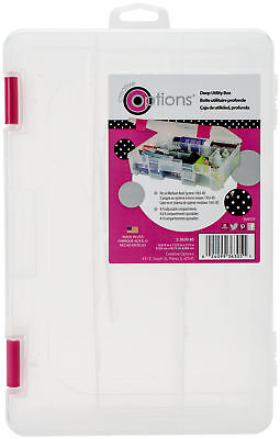 Creative Options Deep 3600 Utility Box Clear W/Magenta Latches 2363085