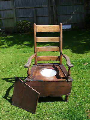 Wooden Victorian Commode Chair