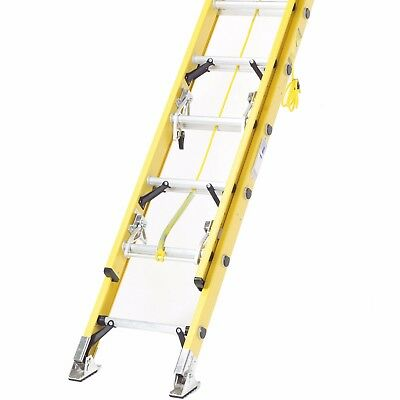 Fibreglass Extension Ladders - Heavy Duty Rope Operated - Max Load 150kg EN131