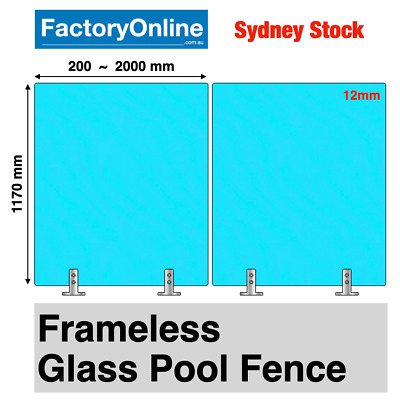 Frameless Glass Pool Fence 12mm Clear Toughened Safety Glass Pool Fencing Glass