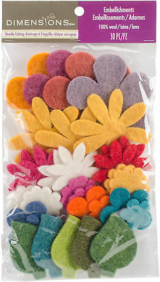 Feltworks Die Cut Flower Value Pack Assorted 72-74384