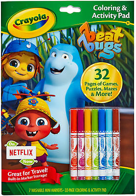 Crayola Coloring & Activity Pad W/Markers Beat Bugs 04-0341