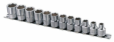 "Genius Tools 12pc 3/8"" Dr. Metric Chrome Socket Set GS-312M"