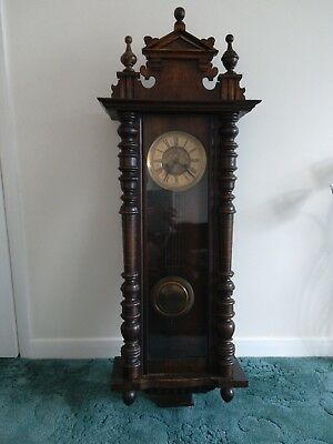 Antique Wall Clock Vienna style keeps good time